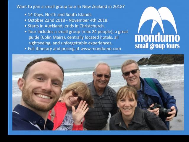 Mondumo New Zealand Tour